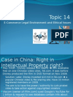 New - Topic 14 - E-Commerce Legal Environment and Ethical Issues