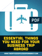 Essential Things You Need for Your Business Trip Abroad