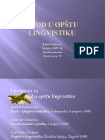 Uvod u opštu lingvistiku