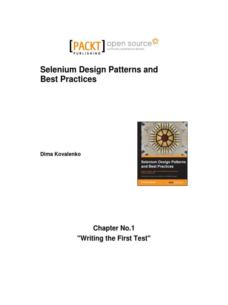 Selenium Design Patterns And