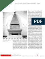 La Tomba Di Lavinia Thiene - Un'Opera Mantovana a Vicenza
