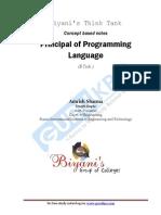 Principal of Programming Language