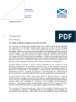 CD017 Letter From Chief Planner 'Providing an Effective Supply of Land for Housing' (29th October 2010)
