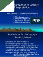 Basic Approaches to Literary Interpretation