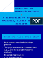 Introduction to Health Research for Ayurveda, Siddha and Unani Teachers