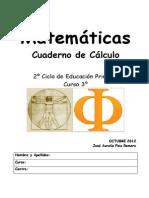 Cuaderno de Cálculo de 3º OCT 2012