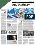 Escocia Vota Por Un Referéndum Que Marcará Su Futuro y El de Europa