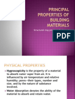 Principal Properties of Building Materials
