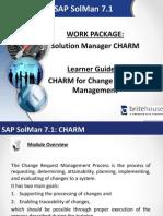 SAP Solman Learner Guide CHARM