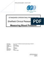 Standard Operating Procedure Manual BP - Shiefield Clinical Research Facility