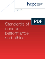 HCPC - Standards of Conduct, Performance and Ethics