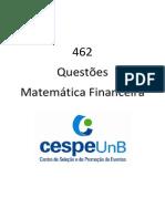 462 - Questoes CESPE - MatemáTica Financeira