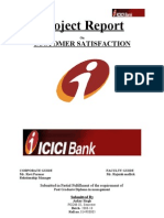 My Project Report on Icici Bank Final