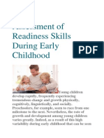 Assessment of Readiness Skills During Early Childhood