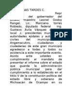Angamacutiro Michoacan Segundo Informe de Gobierno