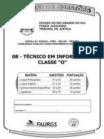C 08 - Técnico Em Informática Classe O - 70q
