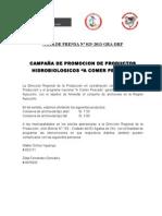 Nota de Prensa - Programa de Financiamiento - Ayacucho[1]