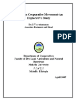 Ethiopian Cooperative Movement by G.veerakumaran