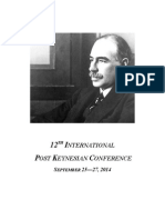 Post Keynesian Conference Schedule