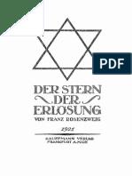 Franz Rosenzweig Der Stern Der Erlosung