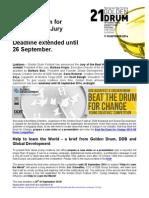 Beat the Drum for Change 2014 Jury announced! Deadline extended until 26 September
