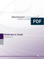 Blackboard Collaborate Web Conferencing Moderator's Guide PDF
