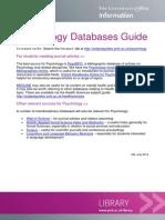 Psychology Databases Guide