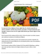 ¿Deberían hacerse vegetarianos los cristianos? - BBC Mundo - Noticias.pdf