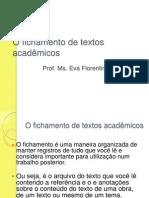 O Fichamento de Textos Acadêmicos - Aula 22-05