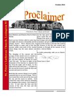 October 2014 Proclaimer