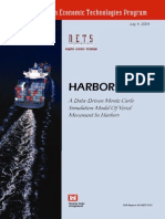 Data-Driven Monte Carlo Simulation Model of Vessel Movement in Harbors