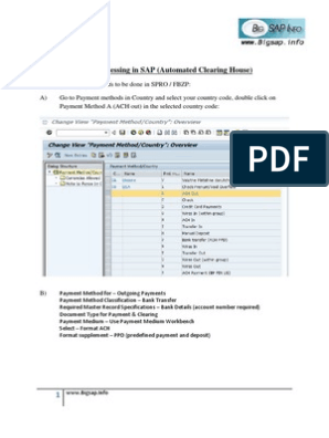 ACH Processing in SAP Using DME | File Format | Automated