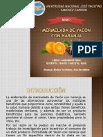 Proceso de Elaboracion de La Mermelada de Yacón