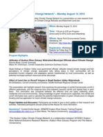 Hudson Valley Climate Change Network – Monday August 13, 2012