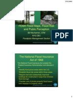 FEMA Flood Maps, Flood Risk and Public Perception