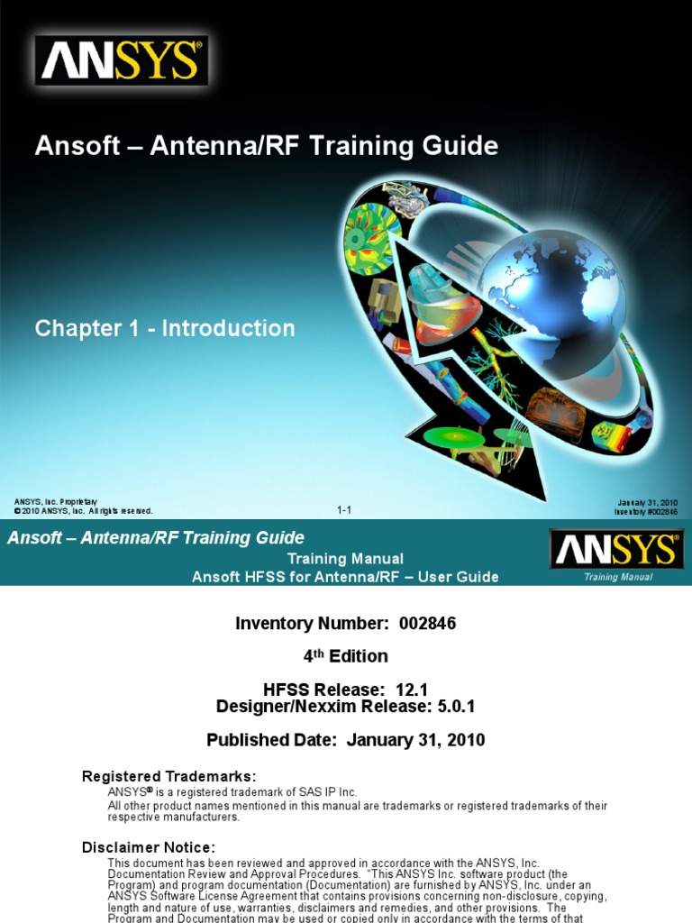 HFSS for Antenna-RF Training Guide v12   Finite Element Method   Electrical  Engineering