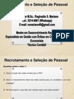 Recrutamento e Seleção de Pessoal-4ª Aula-16.09.2014