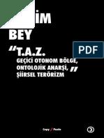 Hakim Bey - T.a.Z. (Ontolojik Anarşi, Şiirsel Terörizm)