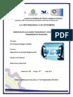 Beneficios de Las Alianzas Tecnológicas y Convenios de La Transmisión de Tecnología