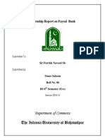 Faysal Bank Internship Report Omer