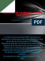 Relacion de La Matriz Isumo-producto