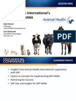 0902 2013AC Animal Health International Road to SAP HANA Version 2b Without Comments