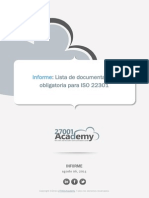 Checklist of ISO 22301 Mandatory Documentation ES