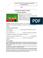 Ficha Expresiones Algebraicas
