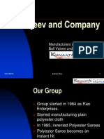 Kavaata Valves & Rajeev and Co - Presentation in Powerpoint