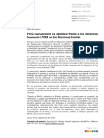 Perú nuevamente se abstiene frente a los derechos  humanos LTGBI en las Naciones Unidas