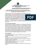 EDITAL INSTITUCIONAL DE EXTENSÃO N° 22, DE 07 DE AGOSTO DE 2013 - DOCENTE