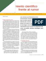 Alauzis, Adrián - El Pensamiento Científico Frente Al Rumor