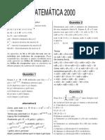 Matematica ITA 2000