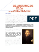 Analisis Literario de Obra Fuenteovejuna